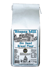 Wessex Mill Six Seed Bread Flour (a photo of the flour packaging)